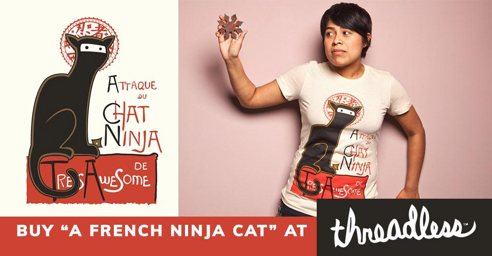 buy ninja cat tshirt at threadless